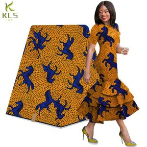 2019 Nigeria 100% cotton super hollandais African veritable real wax block prints fabric 6 yards W181107