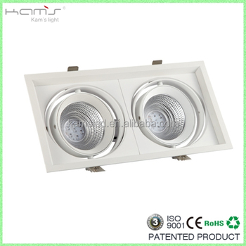 Single/double/triple Head Adjustable Ar111 Led Grille Lights With ...