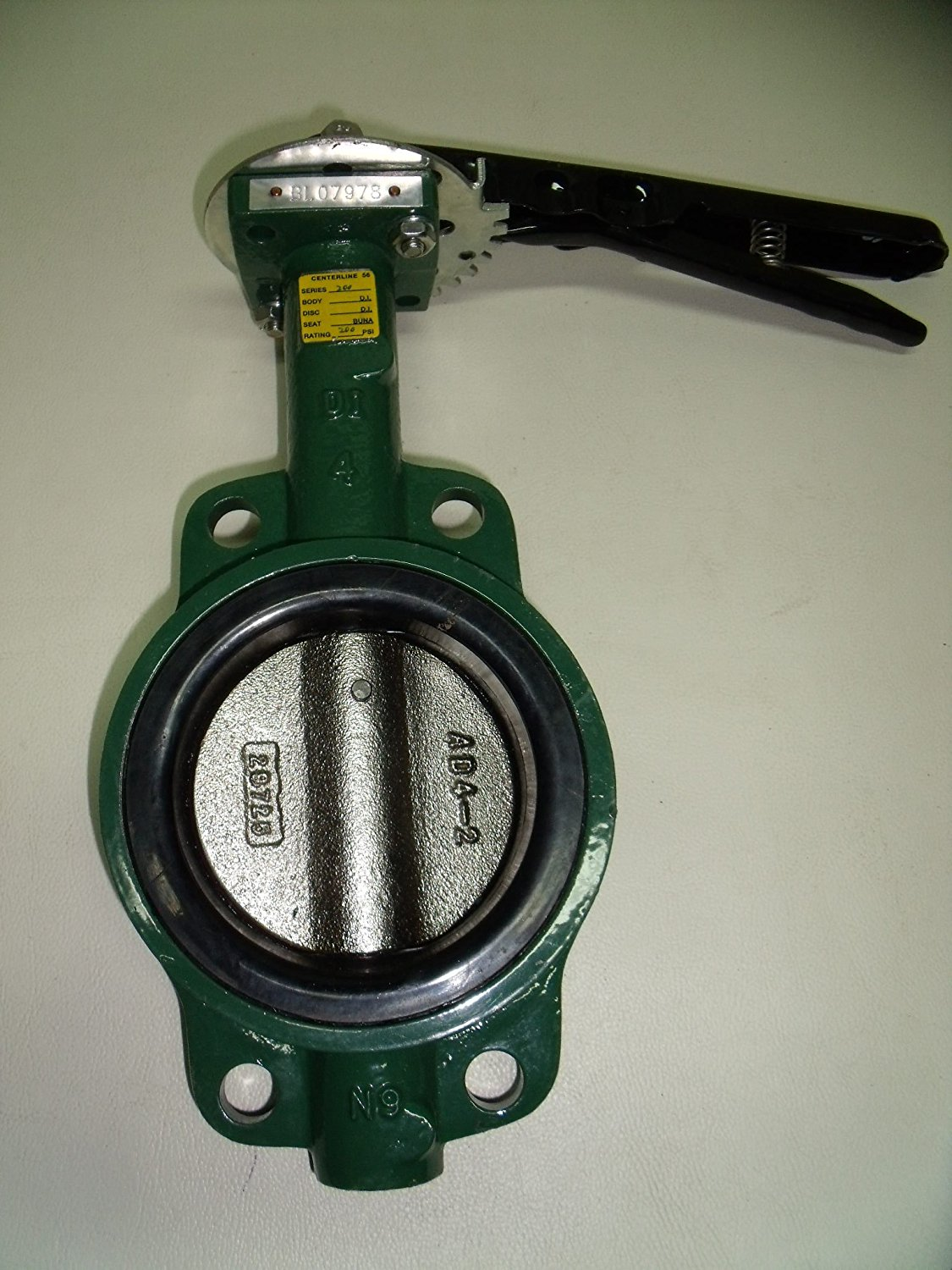 """6/"""" Butterfly Valve Ductile Iron Disc Buna Seat Wafer Style With Align Holes"""