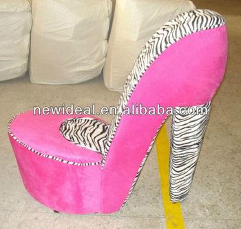 Fabric High Heel Shoe Chair (NO72R)