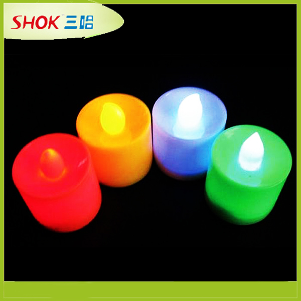 Colorful decoration Various styles personalized led candles for party