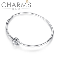 925 Sterling silver bracelet for slide beads charms Bracelet with pandoras clasp