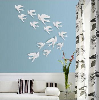 3d hars vogels muurstickers zwaluwen tv achtergrond slaapkamer muur decoraties huwelijksgeschenken