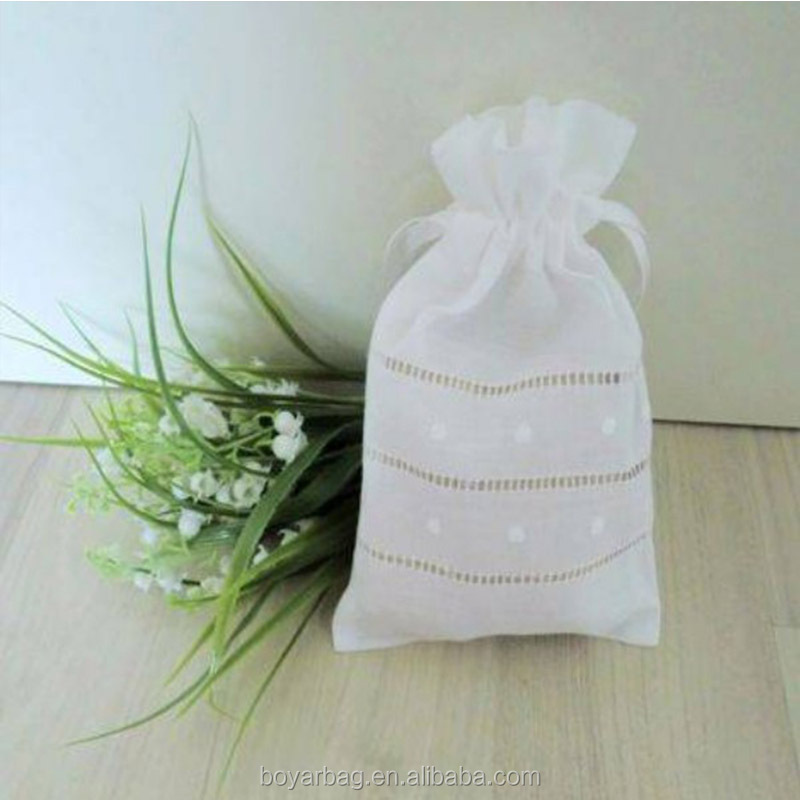 Canvas jewelry coin pouch small gift cotton 100 silk drawstring bags