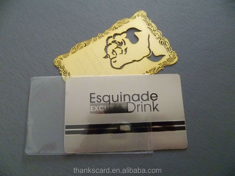 304 Stainless Steel Cheap Metal Business Card/ Gold Gilded Metal ...