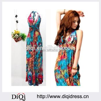 Guangzhou Wholesale Clothing Fancy Floral Maxi Dress Long Dresses ...