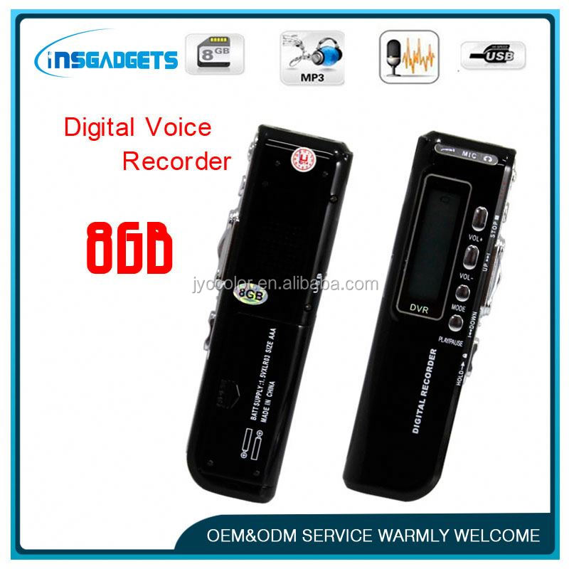8gb digital recorder ,HL-179, digital voice recorder with external microphone