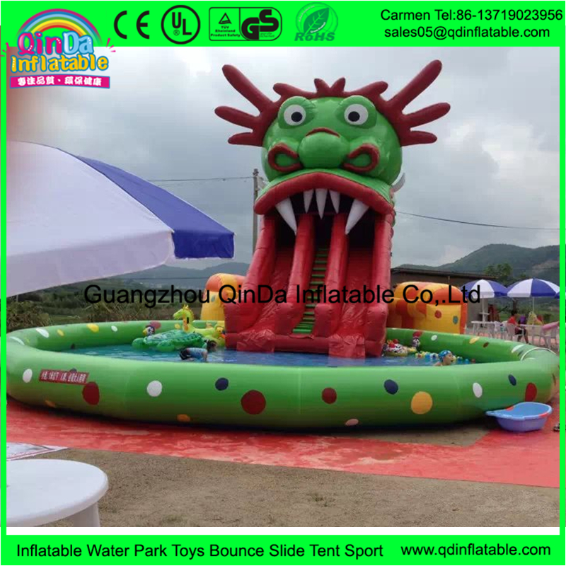 Hot sale amusement park rides pool used giant inflatable water slide for adult