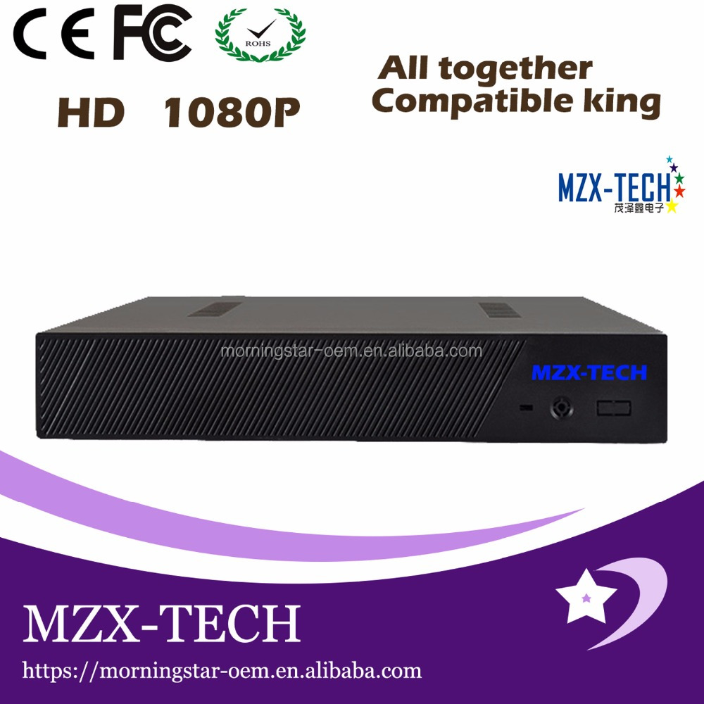 MZX-TECH OEM ODM English 4 ch DVR DVR analog high-definition mobile phone remote four-way NVR network monitoring video host