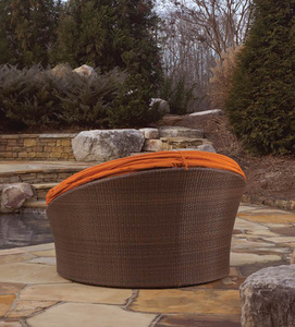 All Weather Outdoor Rattan Daybed With Canopy