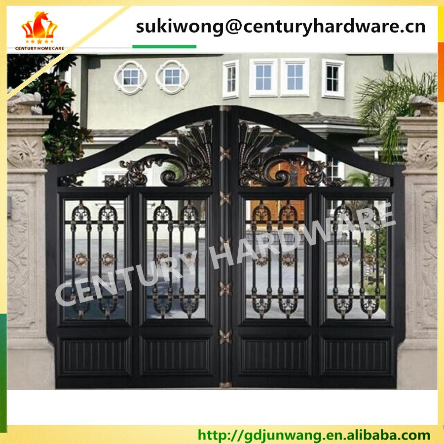 New Design Exterior Luxury Outdoor House Main Aluminum Square Tube ... for Front Gate Designs For Indian Homes  181pct
