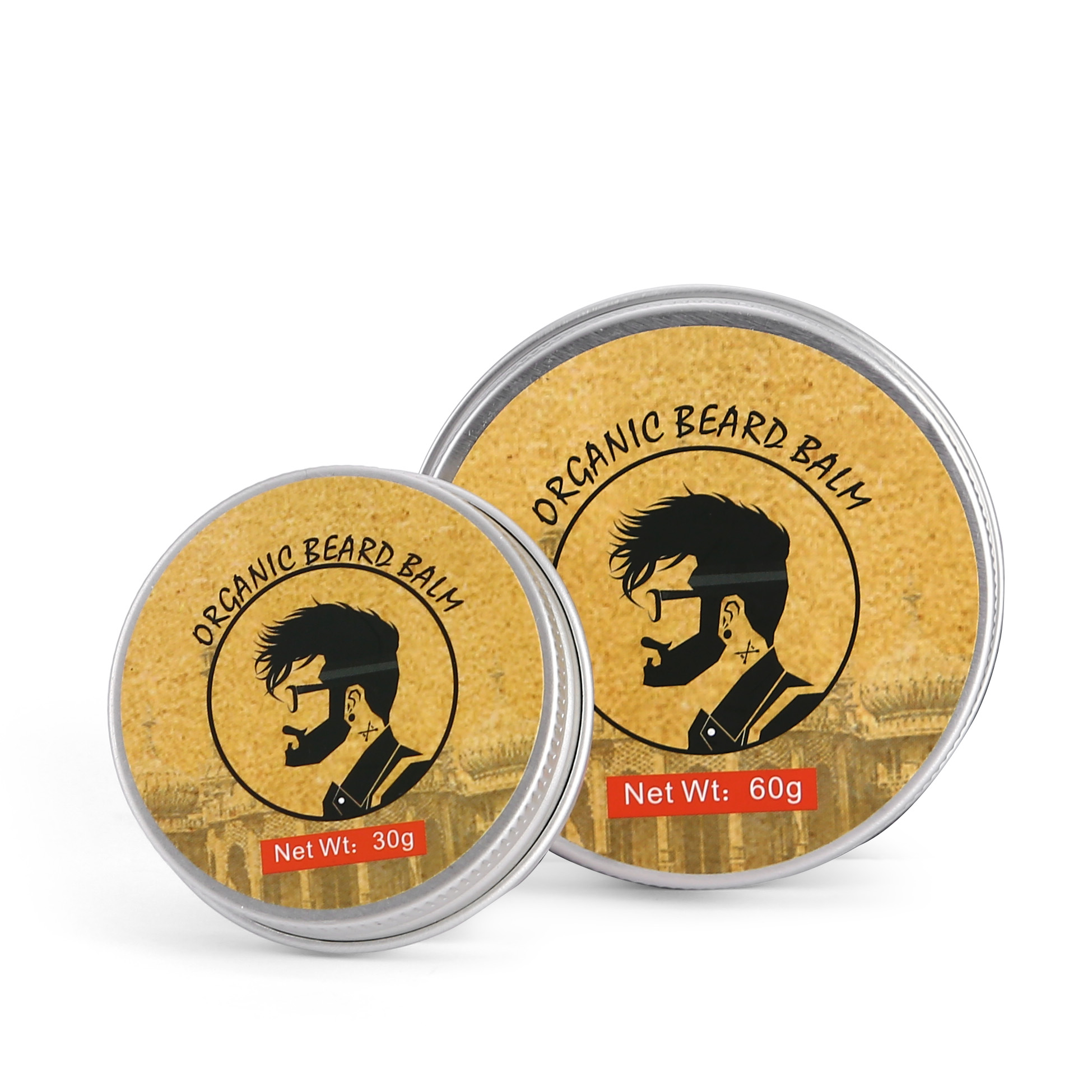 OEM Natural Organic Moustache Wax Beard Care Kit Eigenmarken-Bartbalsam