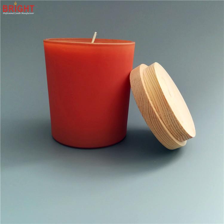 Bio natural custom soy wax glass jar candles