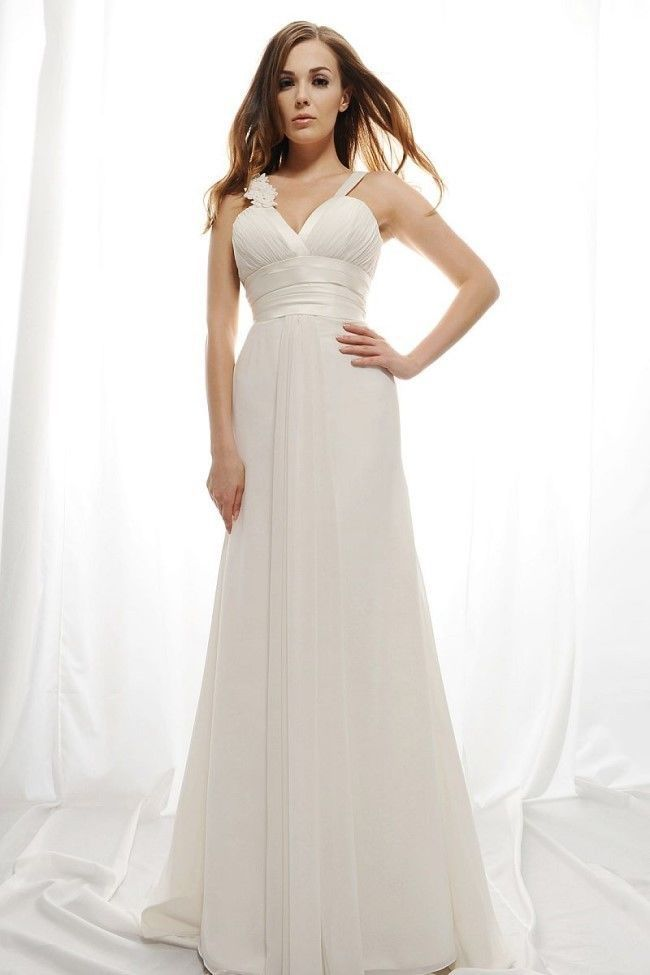 Crazy! Hot 2016 New Chiffon V-neck  A-line Sexy White/Ivory  Wedding Dress Custom size 2+4+6+8+10+12+14+16+18+++