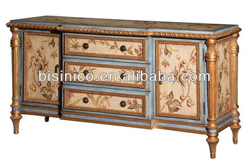 Antique Hand Painted Sideboard,Buffet,Dining Room Cupboard,Wooden  Cabinet,Moq:1pc - Buy Painted Sideboards And Buffets,Classical Sideboard  Buffet,Oak ...