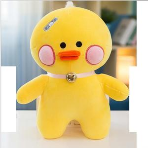 The cute yellow duck plush toy for the birthday present,yellow lucky promotional gift in korea style