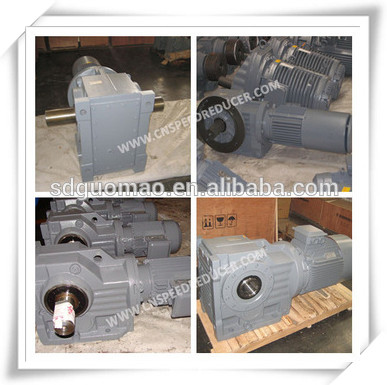 GK Series helical bevel Right Angle Electric Motor Gearbox for Construction Industry