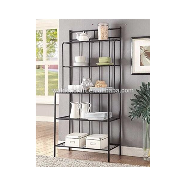 5-tier Black Metal Glass Shelves Kitchen Bakers Rack Stand - Buy Metal  Shelf,Glass Shelf,Kitchen Shelf Stand Product on Alibaba.com