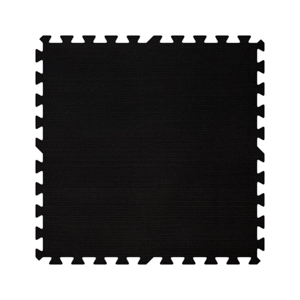 Alessco EVA Foam Rubber Interlocking Premium Soft Floors 8' x 10' Set Black
