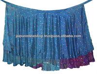 Multiwear 2 Layer Indian Saree Magic Wrap Skirt