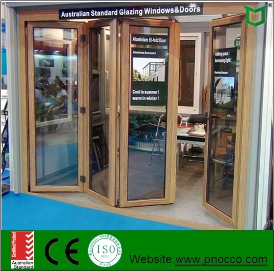 Accordion Aluminum Glass Patio Exterior Bi Folding Doors Folding Doors For