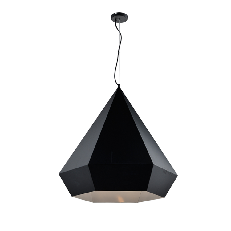Popular Modern Himmeli Pendant Light Diamond Shape Black Chrome Golden Metal Shade Pendant Lighting