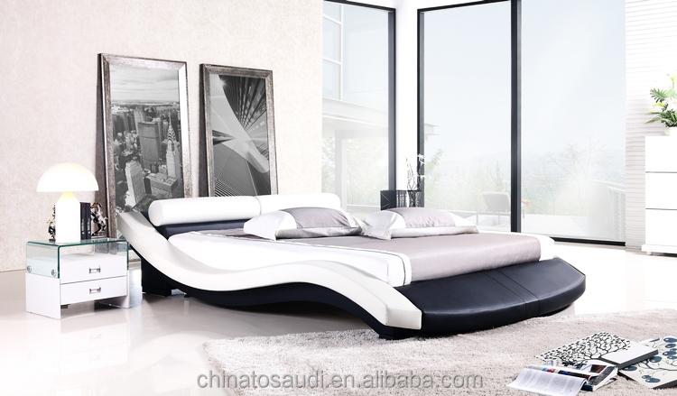 545cd3aa1b8a Hermoso dormitorio muebles adultos tamaño doble cuero cama de madera para la  venta