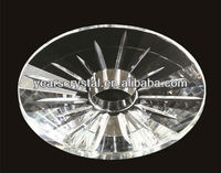 china supply clear round crystal lamp shade for light part (R-2088