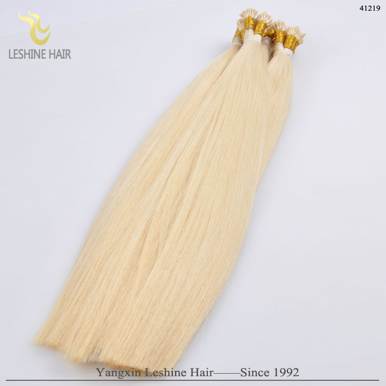 Double Drawn Remy Brazilian I Tip 1G Strand Hair Extension Pre Bonded Human Hair