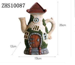 Unique Funny Fairy House Statues outdoor led solar garden light