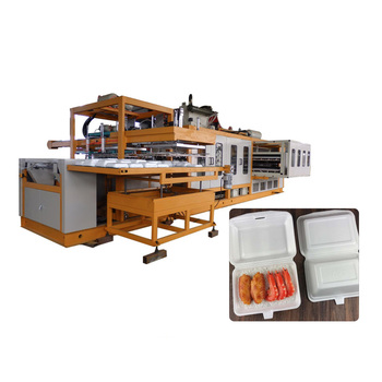 New design ps foam hamburger making take-away box forming machine