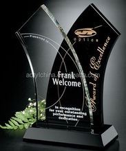 Crystal Trophy Awards Acrylic blank Glass award Plaque