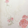 Beautiful Rose Flower Wallpaper 3D Embossed Flower