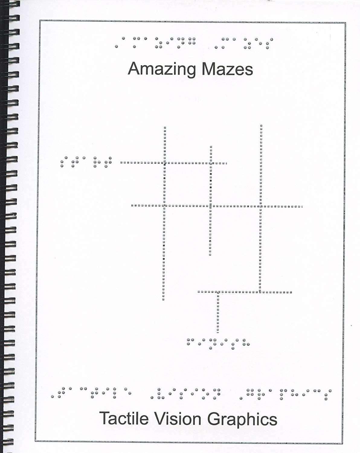 461813b3f04 Tactile Vision Graphics Inc. Braille Children s Book Amazing Mazes