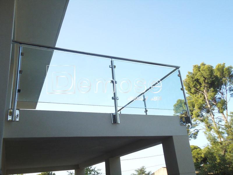 Glass railing stand off exterior glass railing detail for Exterior glass railing