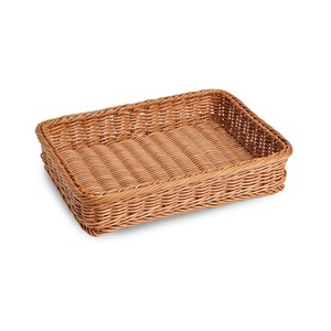 Natural wicker rattan & bamboo weave basket for fruit veg and food