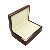 Custom Beautifully High Gloss Woodgrain Paper Finish Wooden Ring Jewelry Storage Box,Silver Ring Box,Rustic Wedding Ring Box