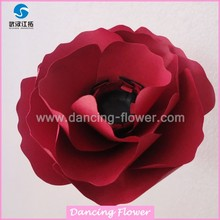 Red Red Big paper flower with stem or not for table wall decoration