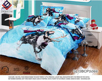 China suppliers fashion Frozen Snow Queen 3d printing duvet cover bed sheet sets
