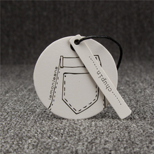 Custom recycled paper garment hangtags for clothing