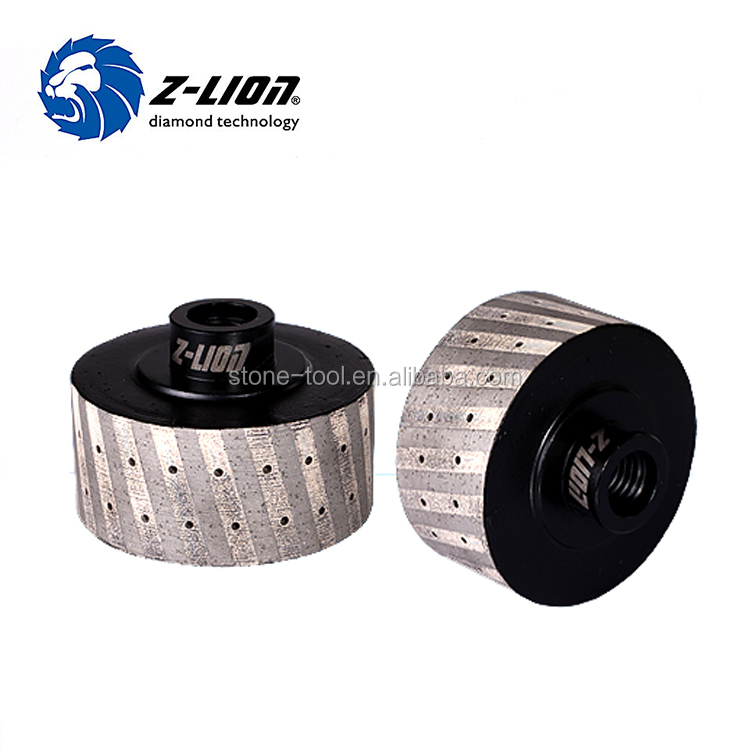 3''/75mm Metal Bond Zero Tolerance Diamond Drum Grinding Wheel / Segmented Zero Tolerance Wheel for Grinite Edge Grinding