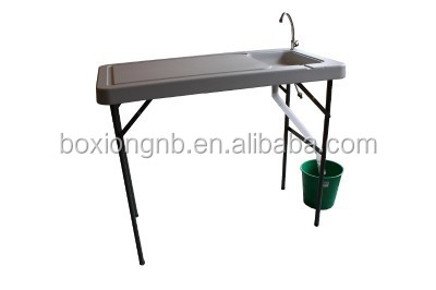 Portable Fish Table With Sink And Faucet Camping