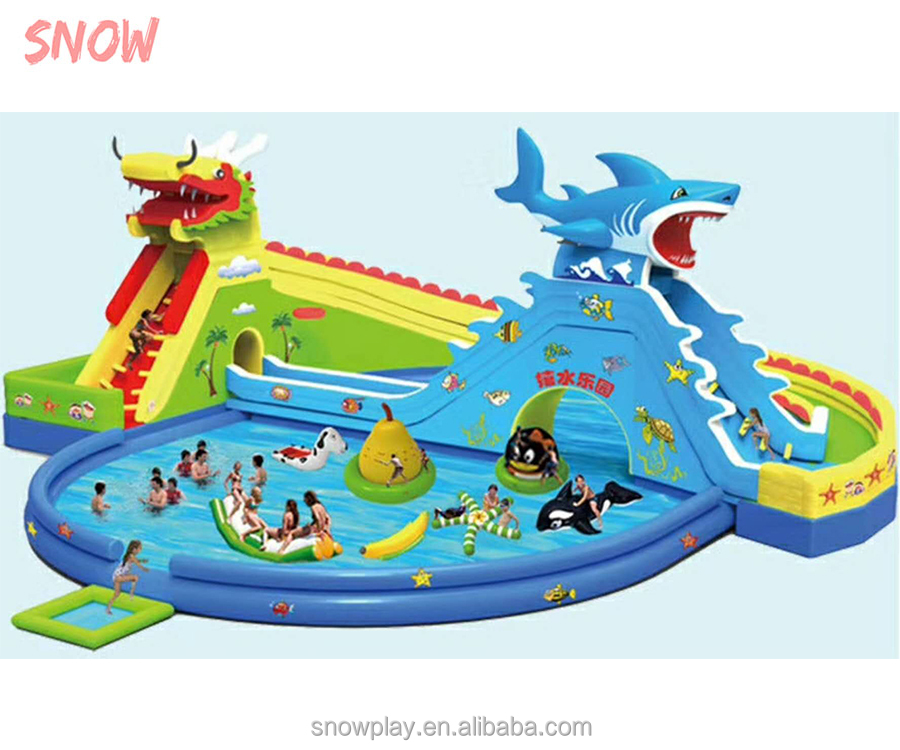 SNOW Factory price <strong>inflatable</strong> water slide , <strong>inflatable</strong> jumping castle , <strong>inflatable</strong> bounce castle slide with pool