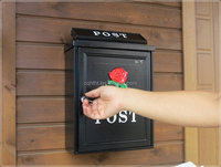 Stainless steel cast aluminum mailbox post