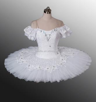 白い白鳥の湖はフリル大人古典バレエ衣装チュチュダンスカスタマイズされたパン