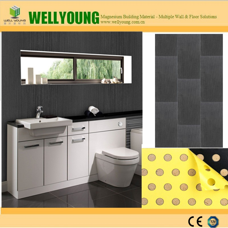 Marble Stone Textured Waterproof Plastic Tiles For Bathroom Walls Easy Clean Panel Product On