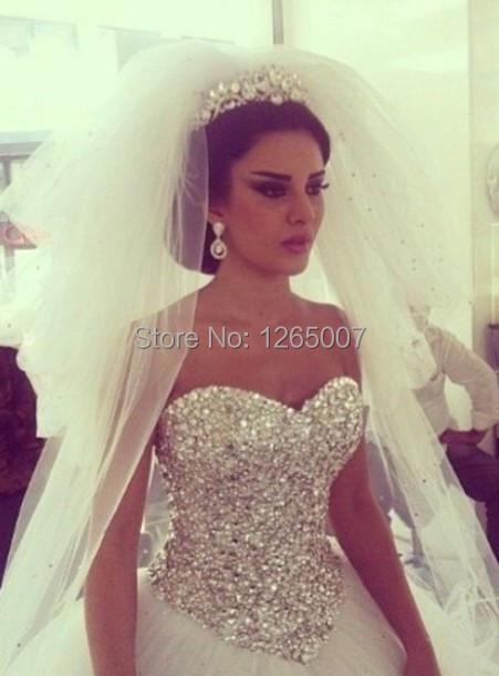 diamond top wedding dress - photo #2