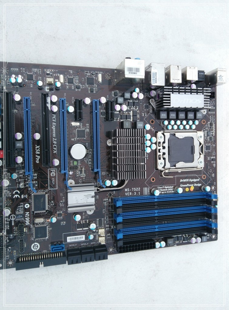 X58 PRO motherboard in good condition 100% tested working