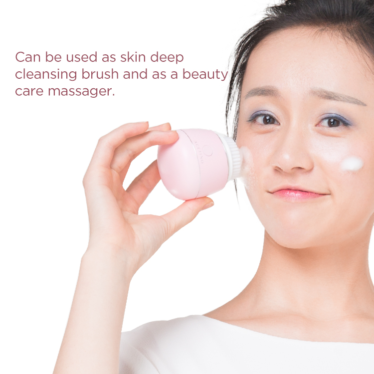 Wireless waterproof facial cleansing brush electric 2019 new arrive private label