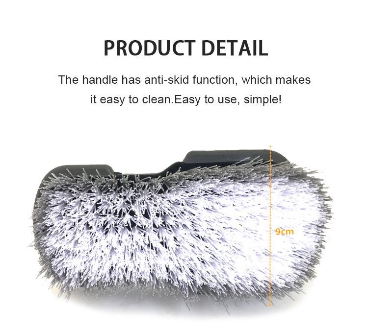 QJ-S-016 Handheld wash car care detailing brush L type car wheel brush